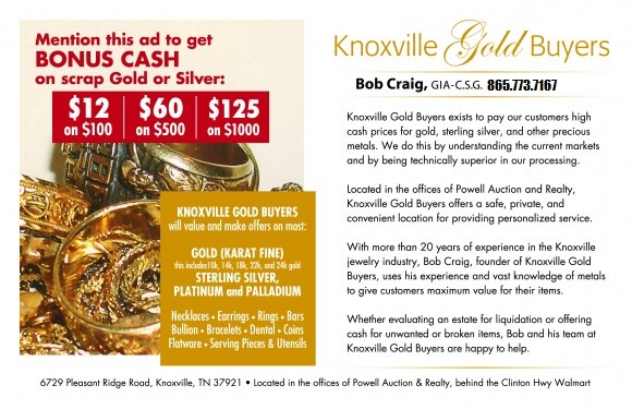 Mention This Ad for Additional Cash on Scrap Gold!